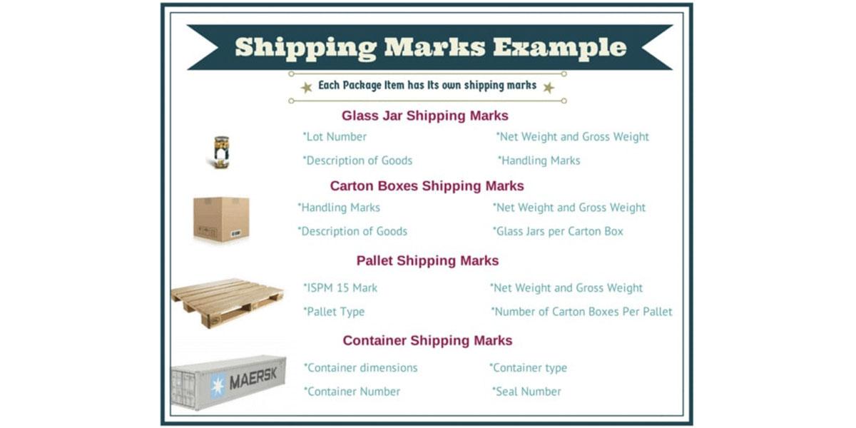 Các loại shipping mark