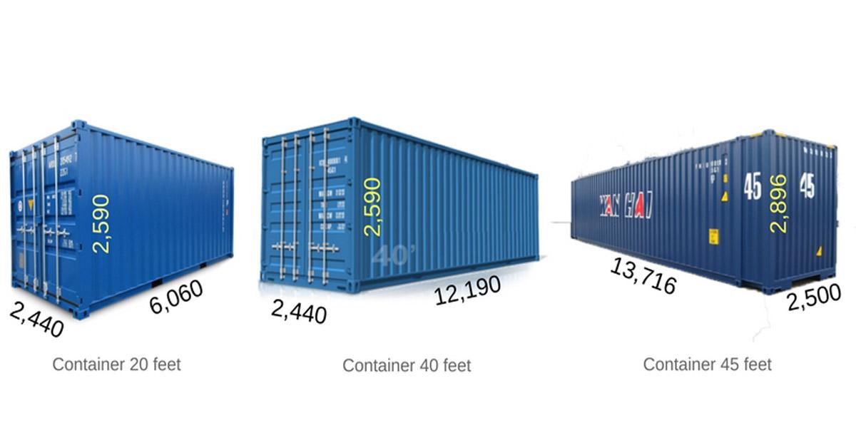 Thùng container loại 20 feet rất phổ biến hiện nay