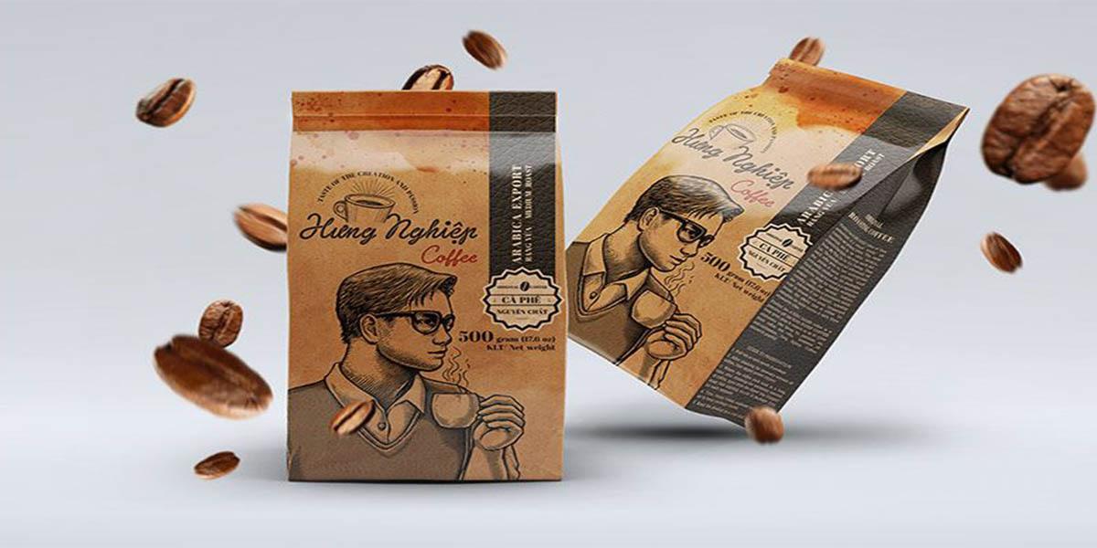 Mẫu bao bi cafe kể về câu chuyện thương hiệu