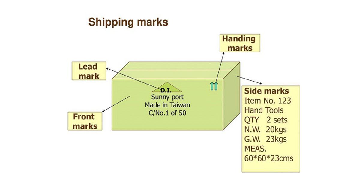 những thông tin cần có shipping mark