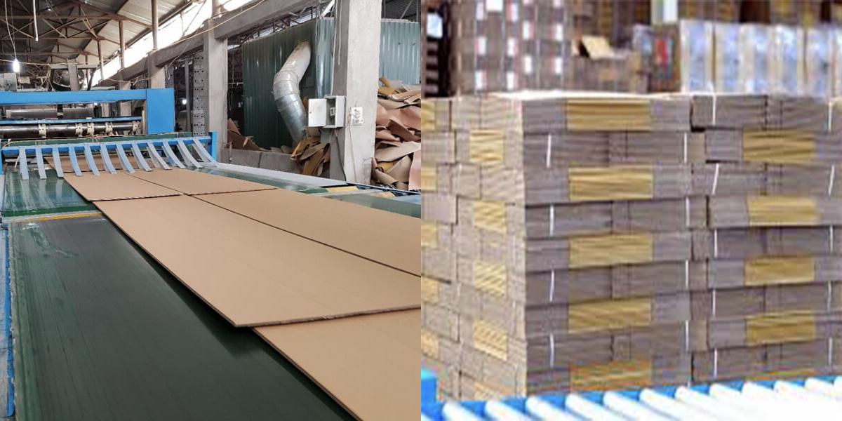Thùng carton 3 lớp được sản xuất như thế nào