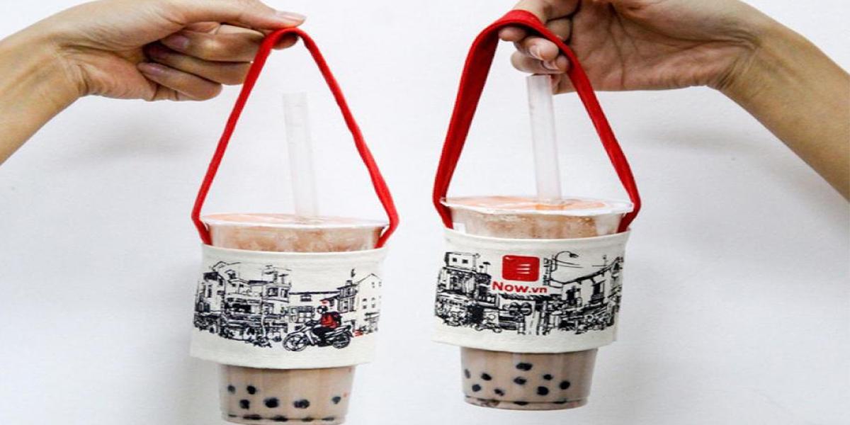 Có nhiều túi đựng ly trà sữa khác nhau